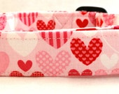 Pink and Red Sweet Hearts Valentines Dog Collar