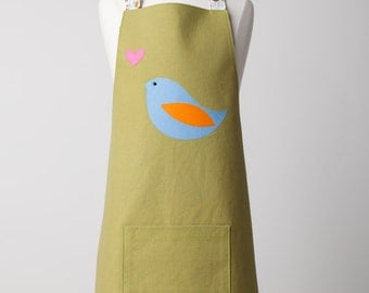 Tween Size 'Love Bird' Apron Ages 5+