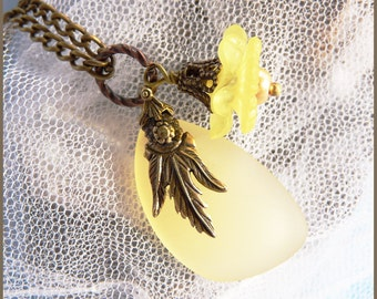 Sunshine Sea Glass - Beautiful Dangle Combination - Necklace  DC 8527