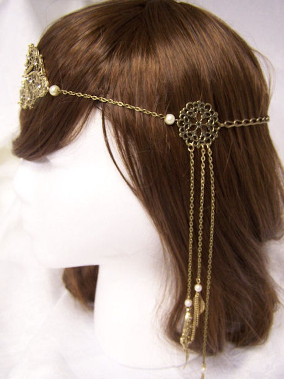 Empress Antique Gold Medieval Renaissance Game of Thrones Filigree Circlet Head Band