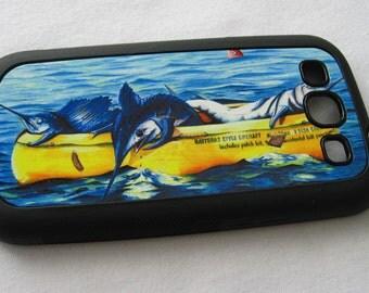 Hatteras Liferaft Samsung Galaxy 3 rubber case grand slam billfish sportfishing gift smartphone android