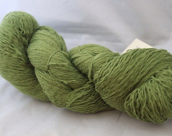30% off STORE CLOSING SALE Recycled Yarn, Green Cotton Yarn, Lace Weight Yarn - 691 Yards