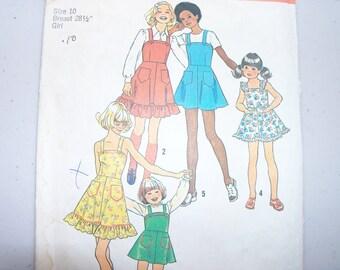 Simplicity 6996 Girls Dress or Jumper Size 10