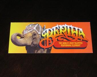 Unused Picture Postcard Bertha Performing Elephant John Ascuga's Nugget  Reno Nevada