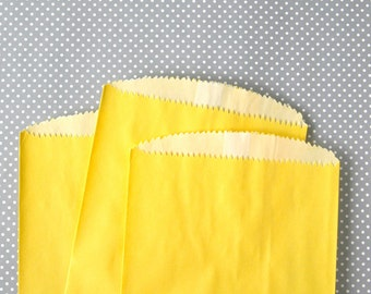 Yellow Glassine Lined Paper Bag - Candy Buffet, Party Favor, Wedding Favor - 6.75 x 4.75 inches (25)
