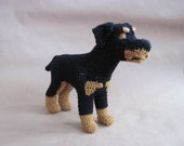 Crocheted Rottweiler PDF Pattern - Digital Download - ENGLISH ONLY