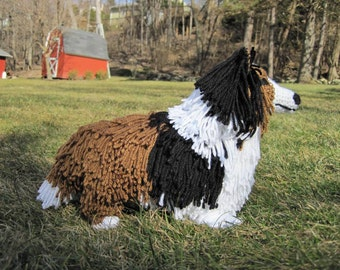 Sheltie or Collie PDF Crochet Pattern - Digital Download