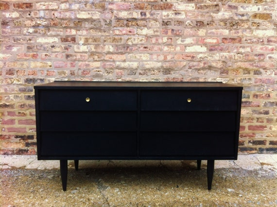 Mid Century Dresser In Black Licorice
