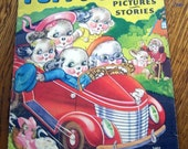 1939 Childrens Pictures and Stories Puppy Love Soft Coverd Book Florence Salter Illustrator
