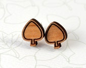 Tree Stud Earrings - Laser cut cherry