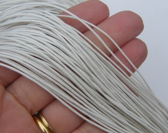 80M White waxed cord