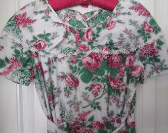 Wrap Dress Colorful Bright Floral Roses BARBETTE
