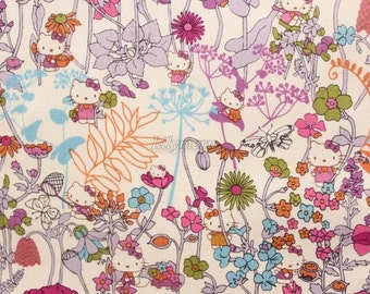 Liberty tana lawn printed in Japan - Wild Garden - Purple mix