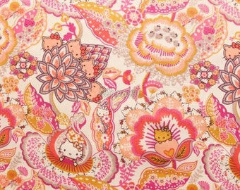 Liberty tana lawn printed in Japan - Tree of Life Garden - Orange mix