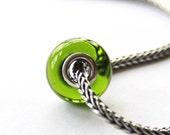 """OOAK Lampwork Charm Bead, SRA, FHFTeam, """"Emerald'"""""""