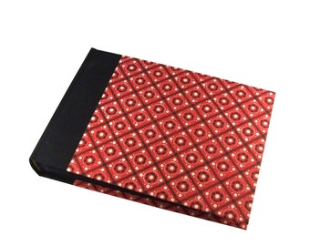 Photo Album, Family Album, red black white Pinny Pattern, in various sizes