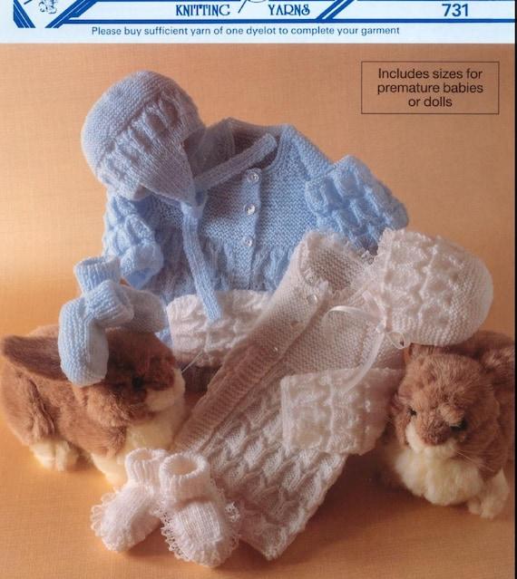 Preemie Baby Booties Knitting Pattern : REDUCED Baby Knitting pattern for Baby/Preemie/Reborn by ...