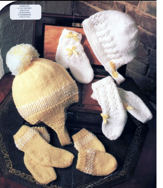 Knitting Pattern Doll Socks : Baby Knitting Pattern or Reborn doll Mittens Socks Booties