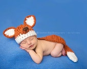 Baby boy hat, baby girl hat, fox hat, fox, crochet fox, photo prop, baby shower gift, crochet newborn fox, baby fox set, fox nursery