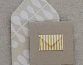 Tiny Envelope Enclosure Cards - Yellow Stripes