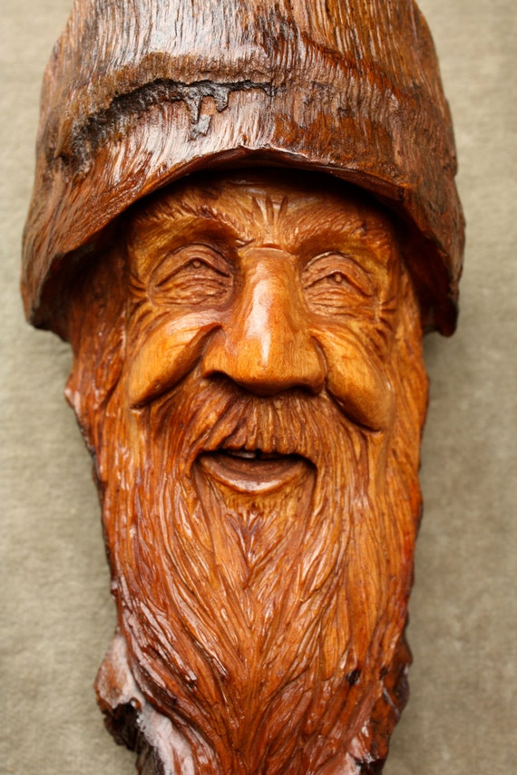 Together Energy Reviews >> Wood Spirit Wizard Carving Unique Christmas by TreeWizWoodCarvings