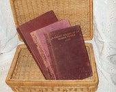Vintage Red Burgundy Instant Book Collection Library Photo Prop