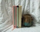 Mixed Pastel Collection of Books Instant Library Photo Prop