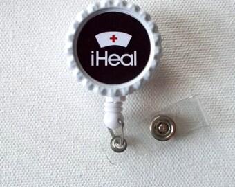 iHeal - Retractable Badge Reel - Nurse ID Badge Clip - Nursing Badge Holder - Nurses Badge Reel - Nurse Badge Holder