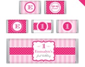Pretty in Pink Party - Personalized DIY printable Hershey bar labels
