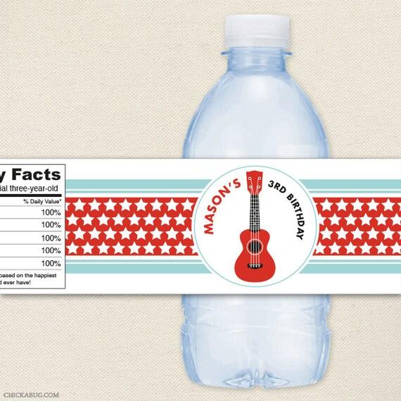 Rock Star - 100% waterproof personalized water bottle labels