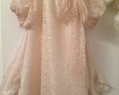 Ivory flower girl dress, wedding, christening, special  occasion, lace dress