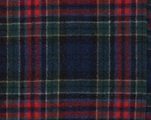 5121 -  Felted 100 Percent Woven Wool - Plaid - Navy, Red, and Yellow - Extra Large Size