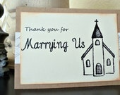 Thank You for Marrying Us - Wedding Card for Ministers, Officiants and more