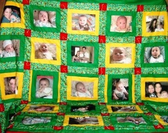 36 Panel Photo Memory Quilt King Size