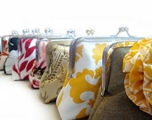 Bridesmaids Gifts Party Purses Custom Bridesmaids Bags Clutches Set of 4 by Lolis Creations