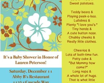 "Baby Shower Invitation ""Stork"""
