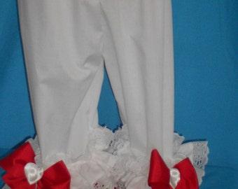 Larger Sizes...Boutique OOAK Mini Heart Ruffled Pantaloons