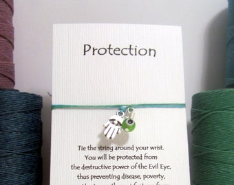 Protection, The Evil Eye  Wish Bracelet