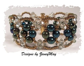 Ice Crystal Bracelet, Beading Tutorial in PDF