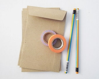 100 brown Kraft envelope size A6 or 4.5 inch X7 inch great for photo or postcard flat envelope