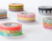 mt 2013 - Japanese Washi Masking Tapes / 6mm Slim Dots & Stripes Deco Tapes - Set of 3