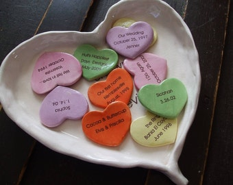 Valentine Story of Us Personalized Gift anniversary gift Pottery Porcelain Personalized Hearts Wedding GIft ninth anniversary