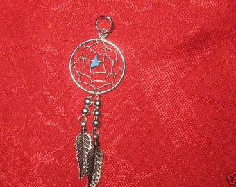 925 Sterling Silver Southwest  Dream catcher Pendant Necklace