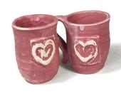 SALE: I Love You Pink Heart Juice Cups Mugs