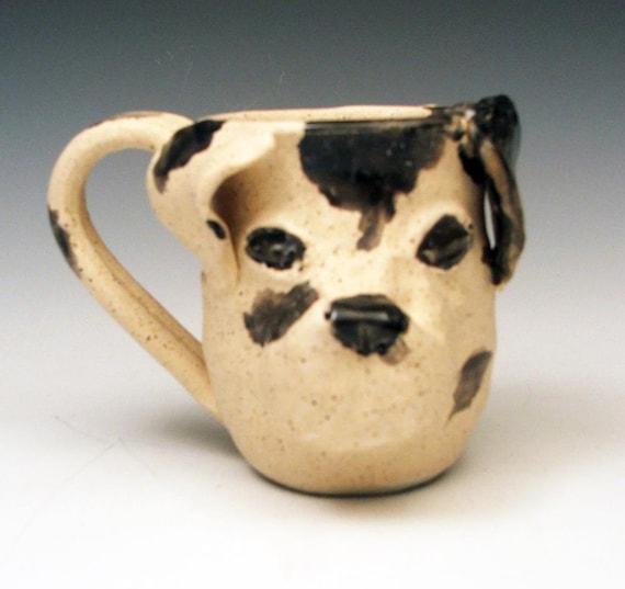 Spotted Dog Mug: Hand Sculpted OOAK