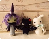 Halloween Sale!!  Witch, Bat and Ghost Ornament pdf Patterns - Instant Download