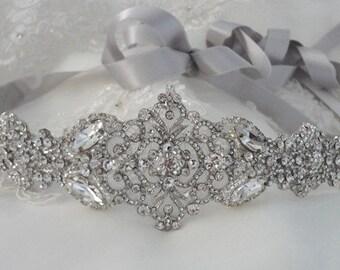 Wedding Dress Gown Crystal Belt Embellishment Brooch Sash