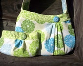 Buttercup Bag, Spring Blooms - Zippered, Pleated Purse, Springtime Set
