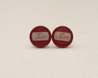LOVE Round Stud Earrings