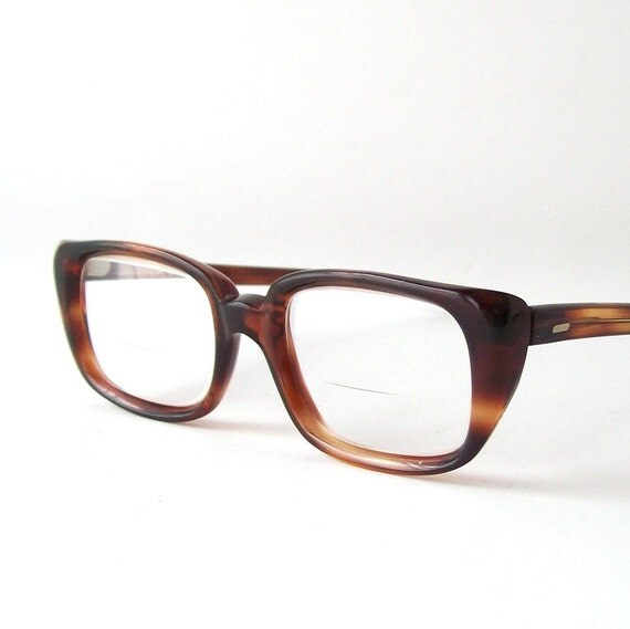 vintage brown frames eyeglasses tortoise by RecycleBuyVintage